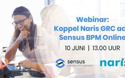 Webinar: Koppel Naris GRC aan Sensus BPM Online